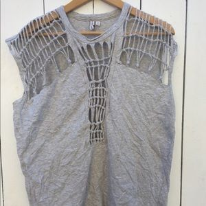 & Other Stories Grey Cotton Top